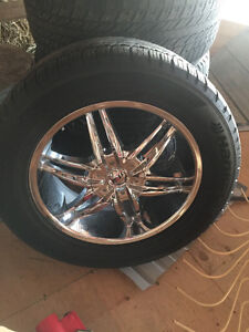 "CHROME RIMS 20"" with tires off F-150"