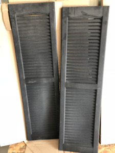 *NEW* Black Window Shutters