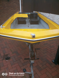 Piranha 13 foot dory galvanized trailer