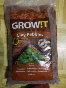 Clay pebble growing medium