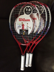 Wilson Tennis Raquets for ages 7-8 - NEW - $10 ea or 3/$25