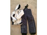 Boys skiwear. Salopettes and jacket. Cross. Height 128-134(?age 7-9)