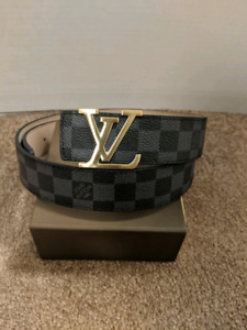 Black LV Damier Belt
