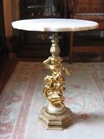 table à dessus de marbre