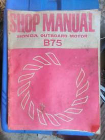 Honda B75 Workshop Manual