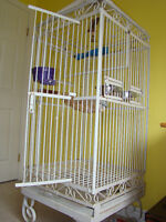 parrot cage and play gym