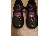 Clark's black patent shoes, size 9F