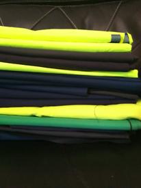 Bundle of work wear fabric pieces