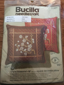 X-Stitch, Crewel & Embroidery: Pillows, Towels & Decor Items