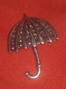 Sterling Silver Umbrella Pin