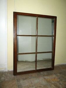 "Large Antique window frame mirror - 41"" x 31"""