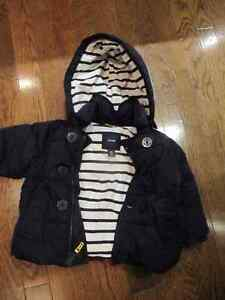 Baby Gap Dark Blue Winter Coat With Hood