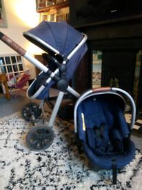 Pram and car seat bundle