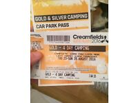 Creamfields 4 day gold camping