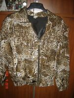 Leopard Jacket in New Condition with Fringe