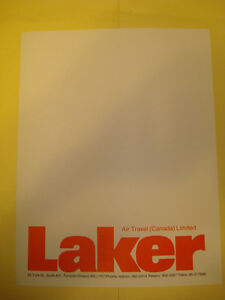 Laker Airways Letterhead