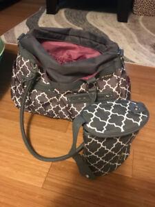 JJ Cole camber diaper bag and 2 bottle cooler