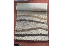 Brand new brown cream and beige rug 150cm x 80cm