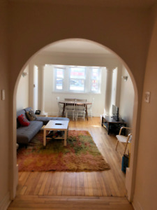spacious 5 1/2 near atwater metro- summer sublet