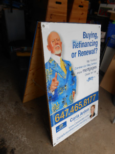 Sandwich Boards - Double sided. You can replace original ads