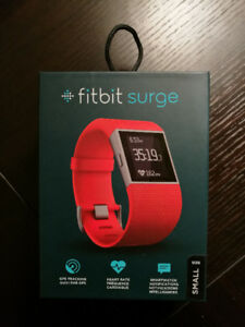 Fitbit Surge (Small, red, in original box with all accessories)