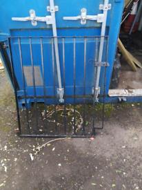 iron garden gate.