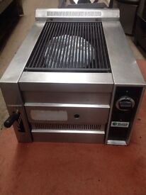 Gas grill. Commercial charcoal grill (used)