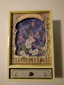 Floating Floral Fairy Shadow Box - Yellow
