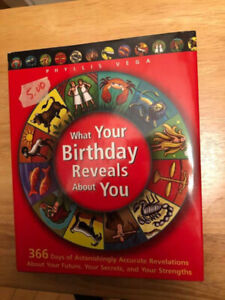 Hardcover book about birthdays