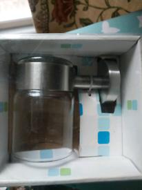 Bathroom glass tumbler