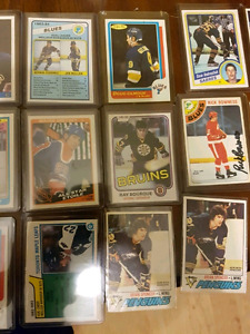 26 cards. Two Gretzky, Bourque 2nd year.