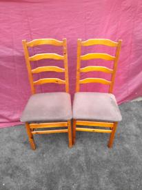 Vintage Pine ladderback Chairs