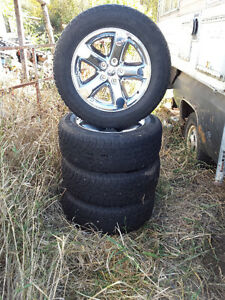 4 Dodge 5 bolt winter tires and rims