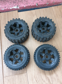 Hostile Nighmare MX Tyres And Wheels. 24mm Hex. Hpi Baja Rc Car