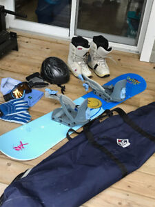 SNOWBOARD PACKAGE - REDUCED PRICE  - Got to go!