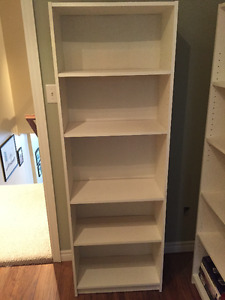 Two white bookcases