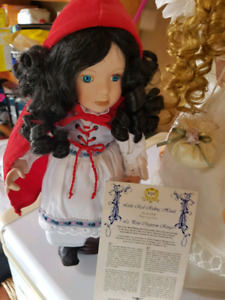 Avon Storybook Collection Porcelain Doll Little Red Riding Hood