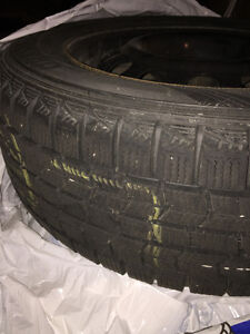 4 used winter steel rims and tires