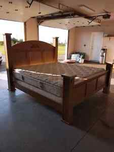 King bed and mattress for sale