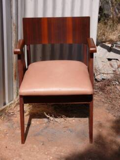 FOR SALE - 4 x OLD STYLE WOODEN CHAIRS WITH PADDED SEATS Moorook Loxton Waikerie Preview