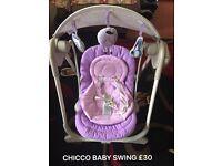 Baby chicco swing
