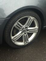 """2013 VW Golf R 18"""" Factory wheels with Michelin"""