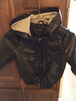 4T Leather Bomber