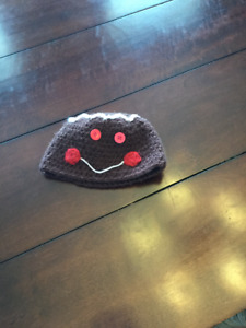 Knitted Gingerbread Man Hat