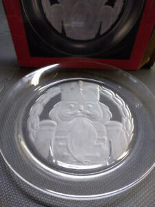Holiday Collections glass Nutcracker serving plate