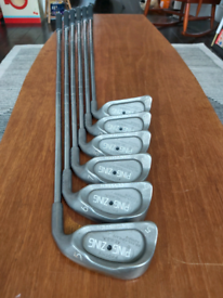 (1) ONE INCH LONGER SHAFTS FOR TALLER GOLFERS ping zing irons 5-PW.