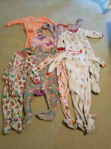 Girls one piece pjs (24 m and 2T)