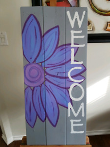 Handmade Outdoor Welcome Sign