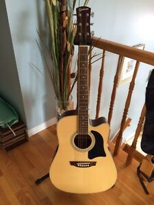 Garrison AG-200-CE acoustic electric guitar with hard case