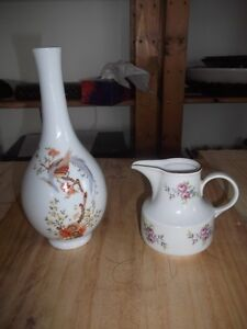 German Vase and Creamer